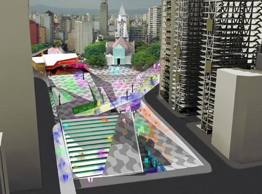 Projeto de transformação da Praça por Luís Felipe Abbud.