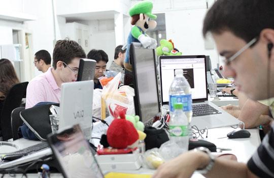 Ambiente de trabalho da Geekie.