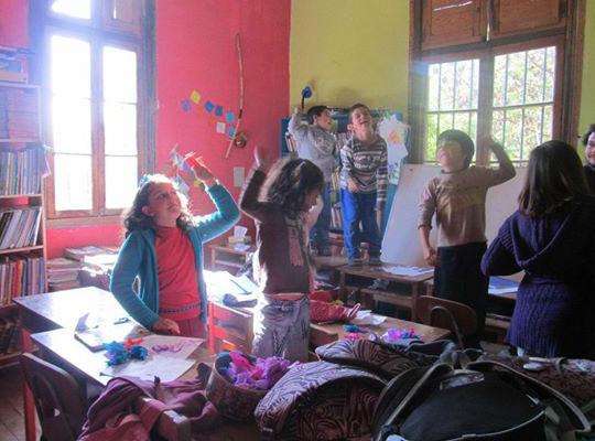 Crianças em atividade.