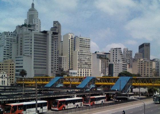 Vista geral do Terminal Parque Dom Pedro II