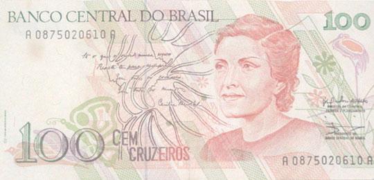 A poetisa foi homenageada na nota de 100 cruzeiros.