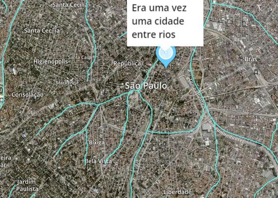 No mapa, usuários fazem marcações para contar histórias.