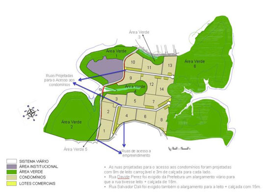 Após as obras, o parque ficará dividido.