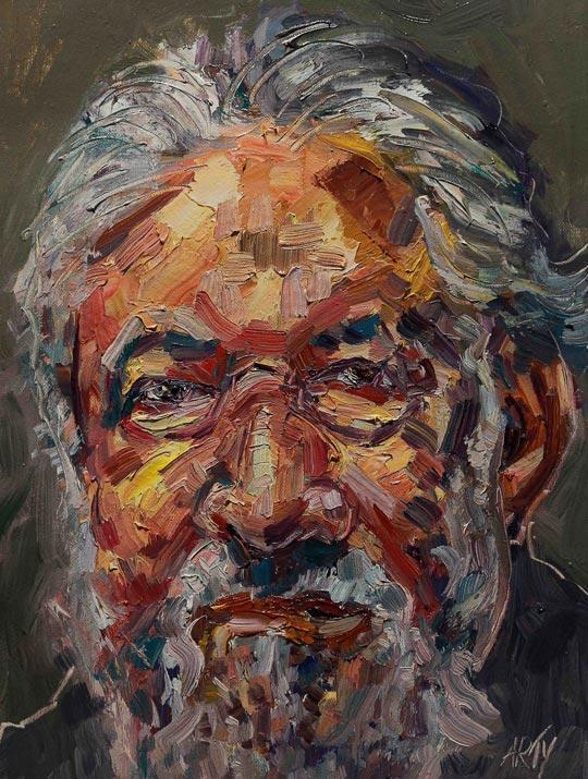 Retrato de Claudio Naranjo, de Arturo Espinosa.