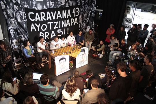 Coletiva de imprensa lotou a sede da Kiwi Companhia de Teatro.
