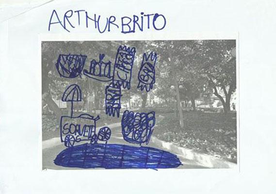 A visão de Arthur sobre a cidade.
