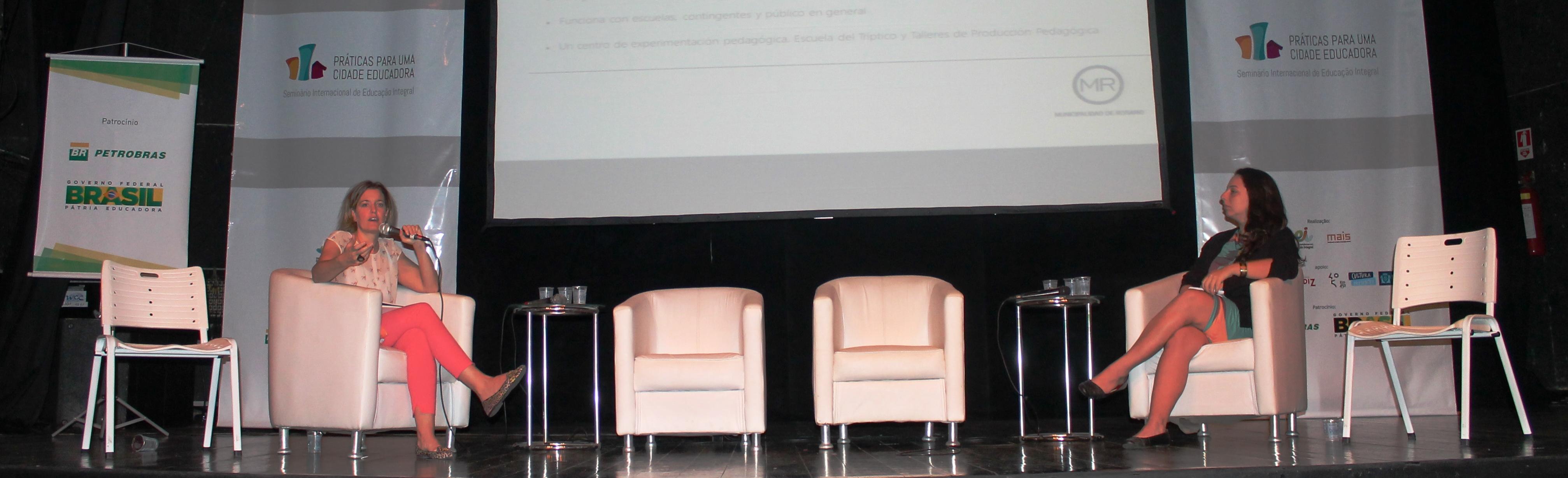 Carolina Balparda e Julia Ventura abrem o segundo dia do Seminário Internacional de Educação Integral: Práticas para uma cidade educadora