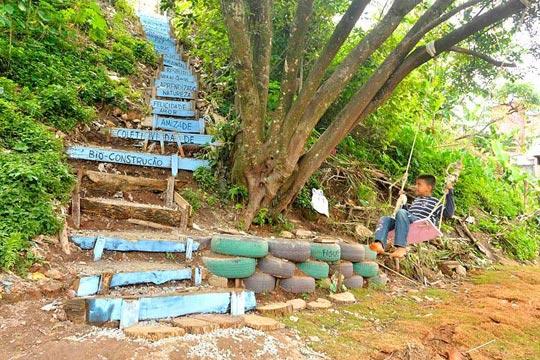 O parque Quintal, em São Bernardo do Campo, foi criado para ser apropriado pelas crianças.