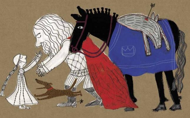Ilustração do livro Inês
