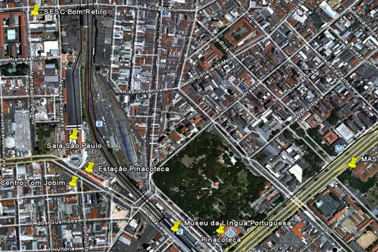 Mapeamento realizado pela Salta Futura com os equipamentos culturais da região.