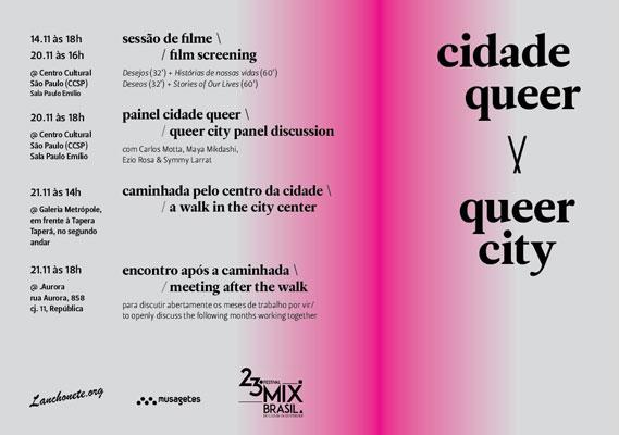 Programação de São Paulo do Cidade Queer