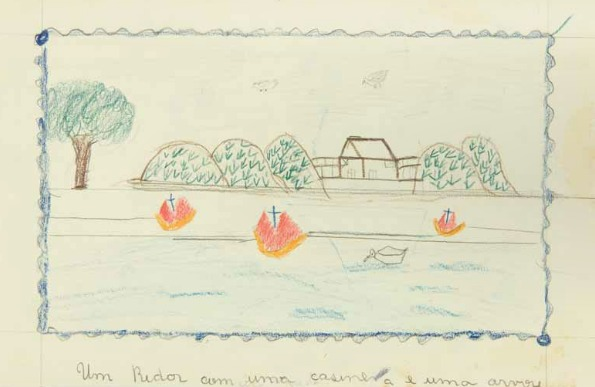 Mário de Andrade era um ávido colecionador das obras produzidas pelas crianças nos parques e acreditava na expressividade infantil.