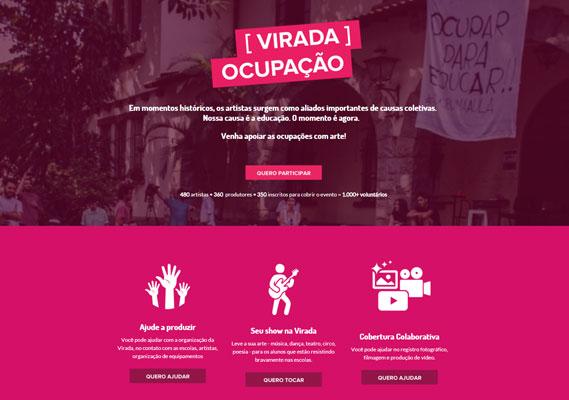 Site da plataforma colaborativa que está organizando a Virada Educação.