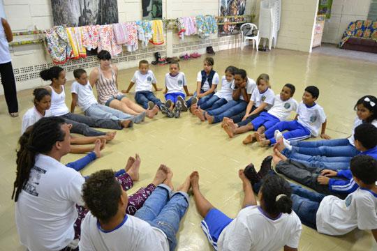 Espaço recebe crianças de escolas municipais.
