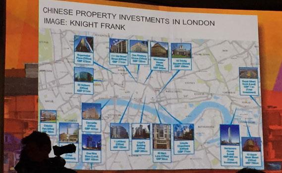 Sasken mostra as propriedades compradas no centro de Londres por uma única família chinesa.