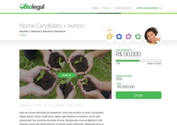 Plataforma propicia espaço para doações diretas e transparentes para candidatos.
