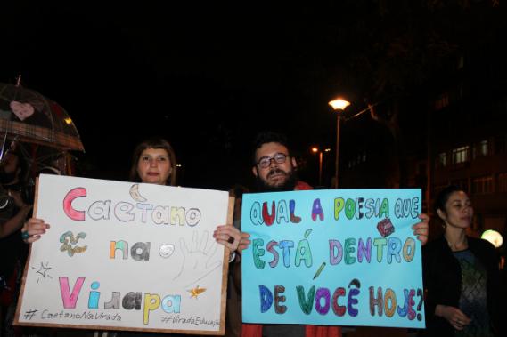Participantes convidam à ocupação da cidade com educação.