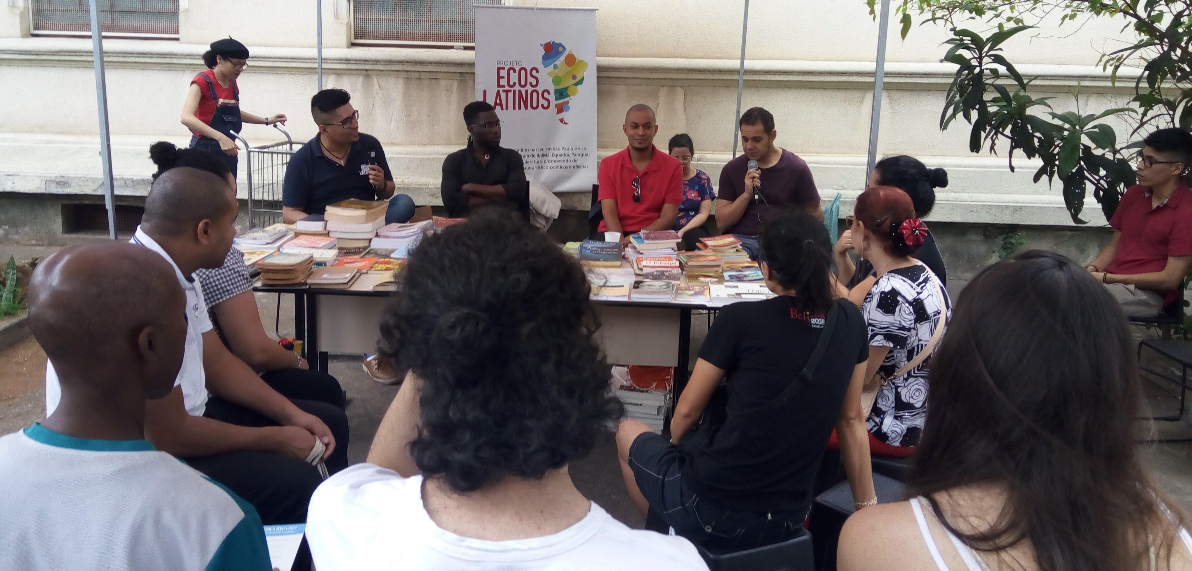 Roda de conversa com escritores peruanos, angolano e brasileiros com o Sarau Ecos Latinos