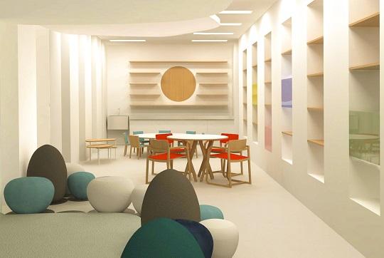 Projeto criado pelo laboratório de design Ovo para a sala Flor Amarela.