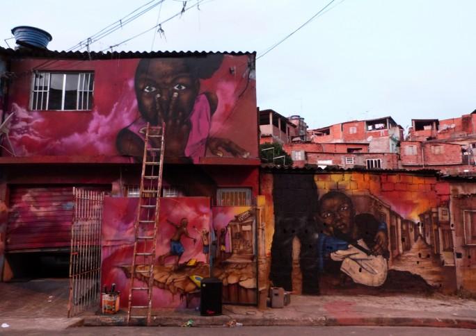 Grafite transforma comunidade em galeria de arte a céu aberto