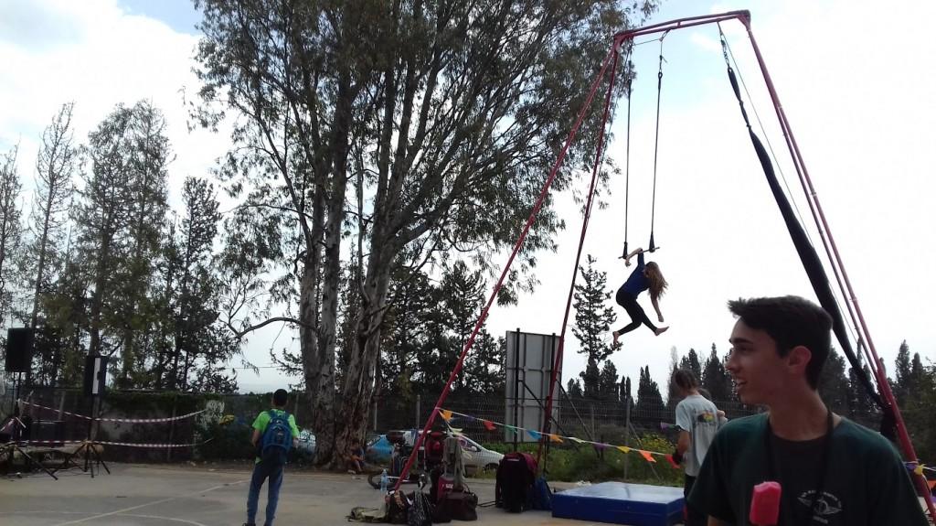 Apresentação de circo em Hadera