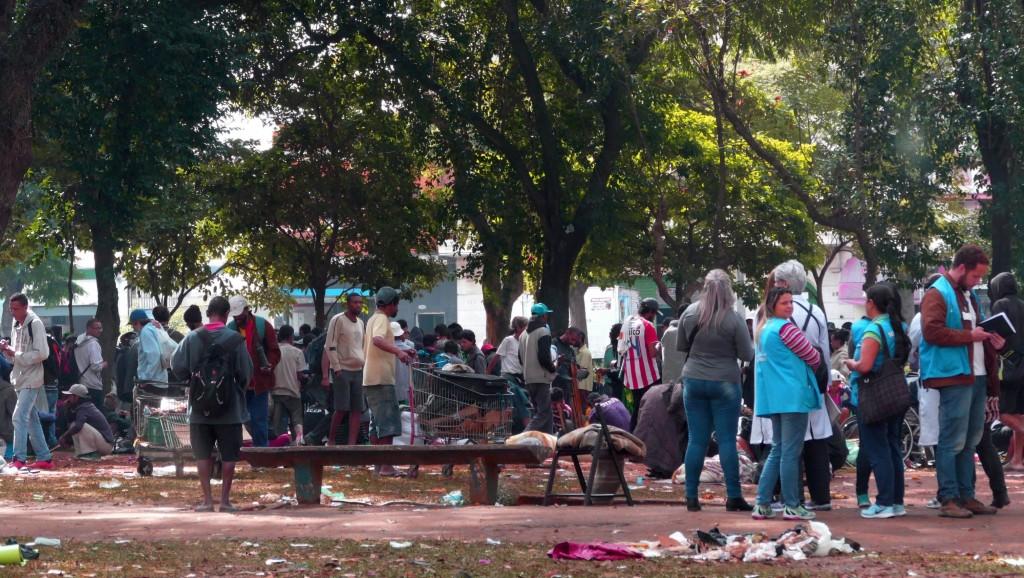 Praça Princesa Isabel foi um dos destinos dos moradores afetados pela ação de domingo