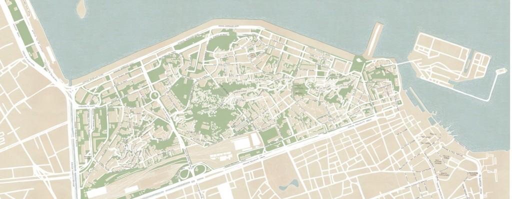 Zona Portuária do Rio de Janeiro atualmente: alterações urbanísticas retificaram seu contorno