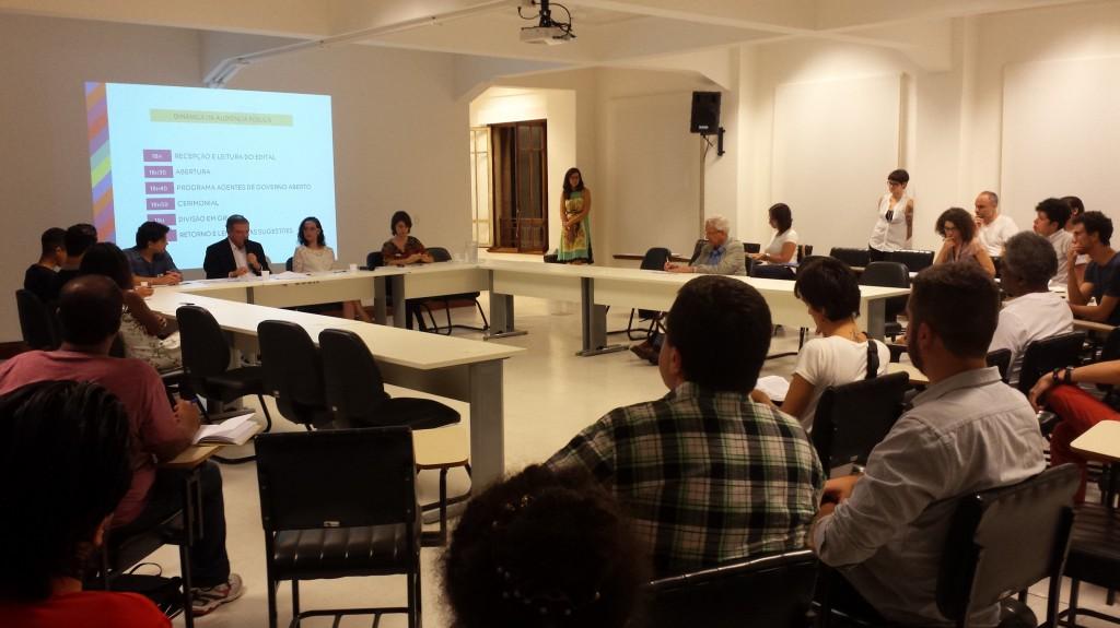 Audiência Pública que formatou o edital do Programa Agentes de Governo Aberto