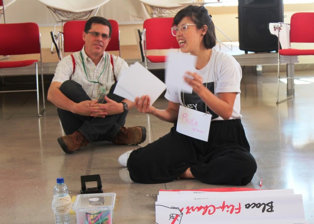 O coletivo Hey Sampa conduziu o encontro sobre Educação Patrimonial do curso Potenciais Educativos do Território