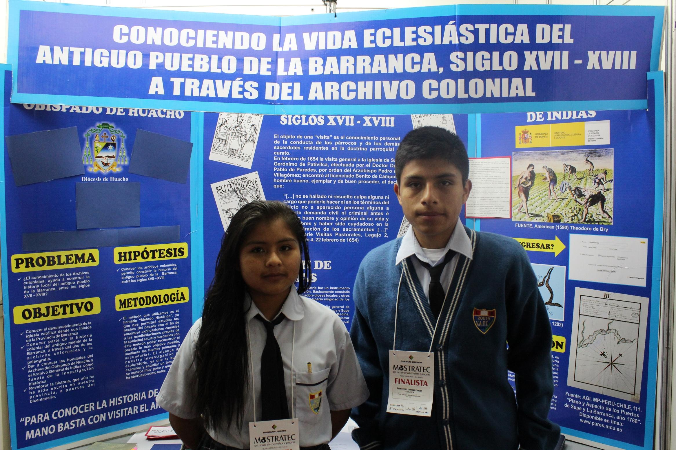 Na Mostratec, alunos peruanos expõem pesquisa de resgate histórico da cidade de Barranca