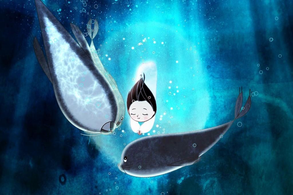 cena do filme menina mergulha com duas focas