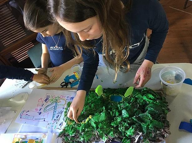 Crianças projetam como elas desejam o entorno escolar no projeto Arquitocos/ Divulgação Ludantia