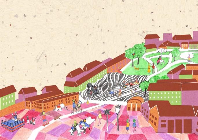 Livro leva crianças a uma jornada sobre arquitetura, espaço público e cidade educadora