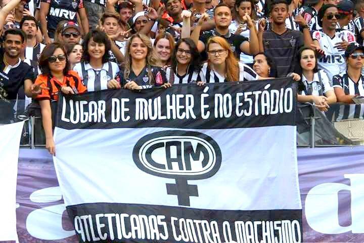 Torcida feminista do Atlético Mineiro / Crédito: Divulgação Facebook