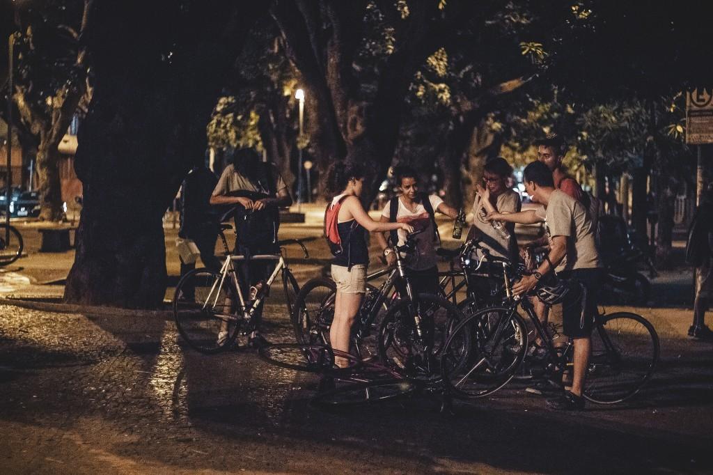 ocupacao de espaço publico com bicicletas