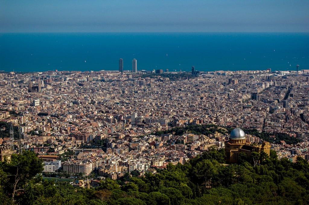 vista área da cidade de barcelona