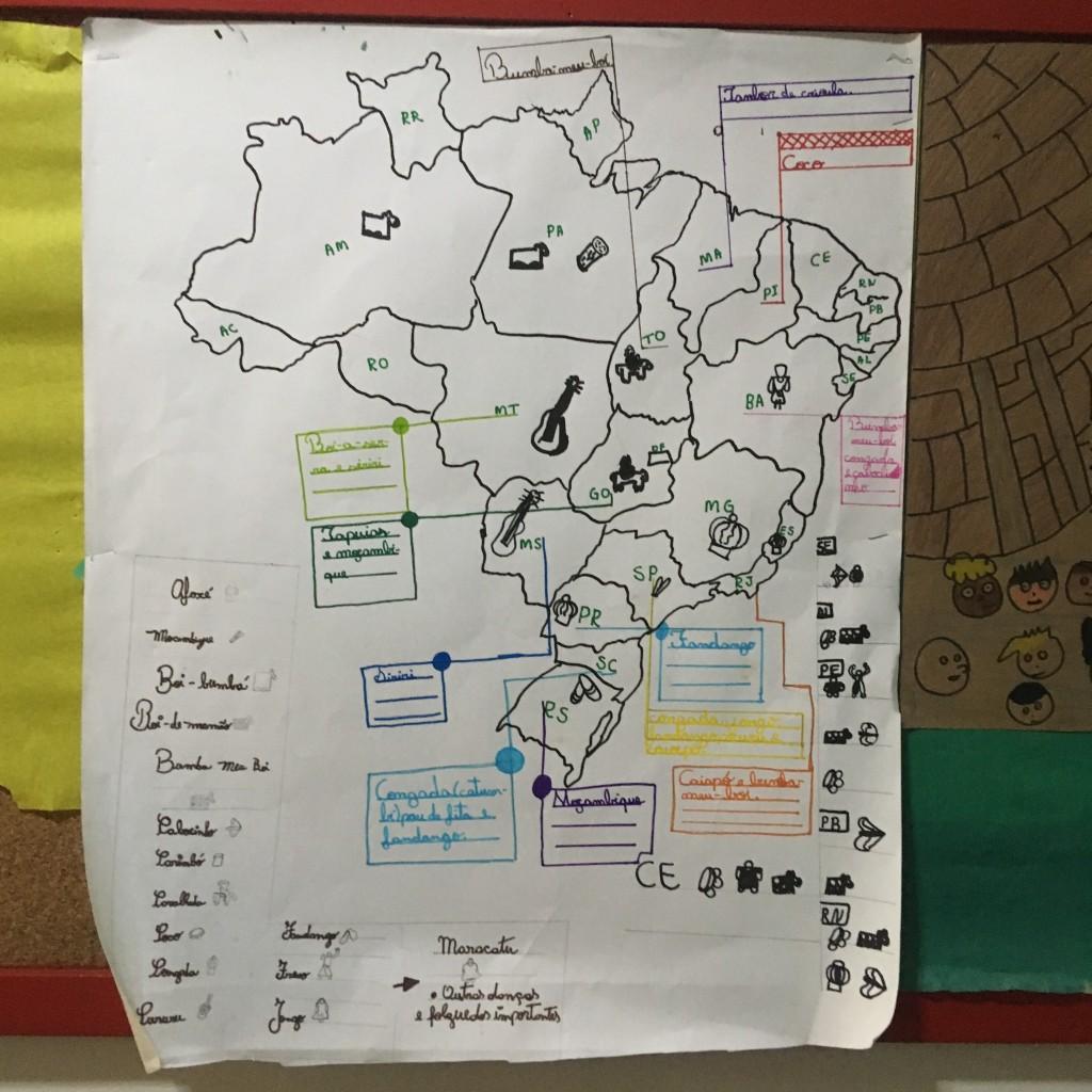 Adolescentes investigam manifestações culturais de cada região do país / Crédito: Cecília Garcia