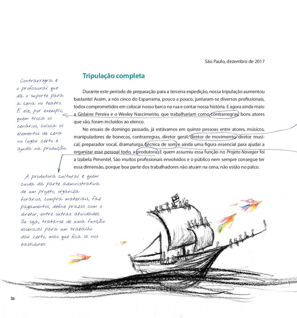 página do livro do projeto com navegar