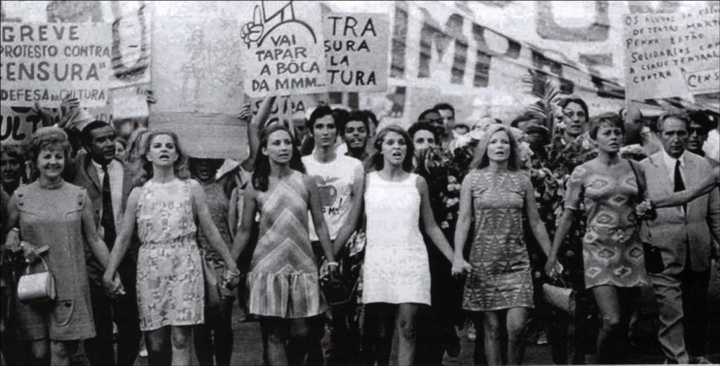 mulheres protestam contra censura na ditadura militar