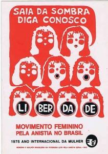cartaz sobre o movimento feminino pela anistia