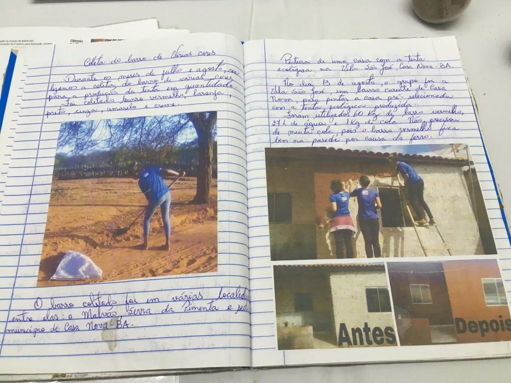caderno de campo sobre o projeto tintas do sertão mostratec 2018