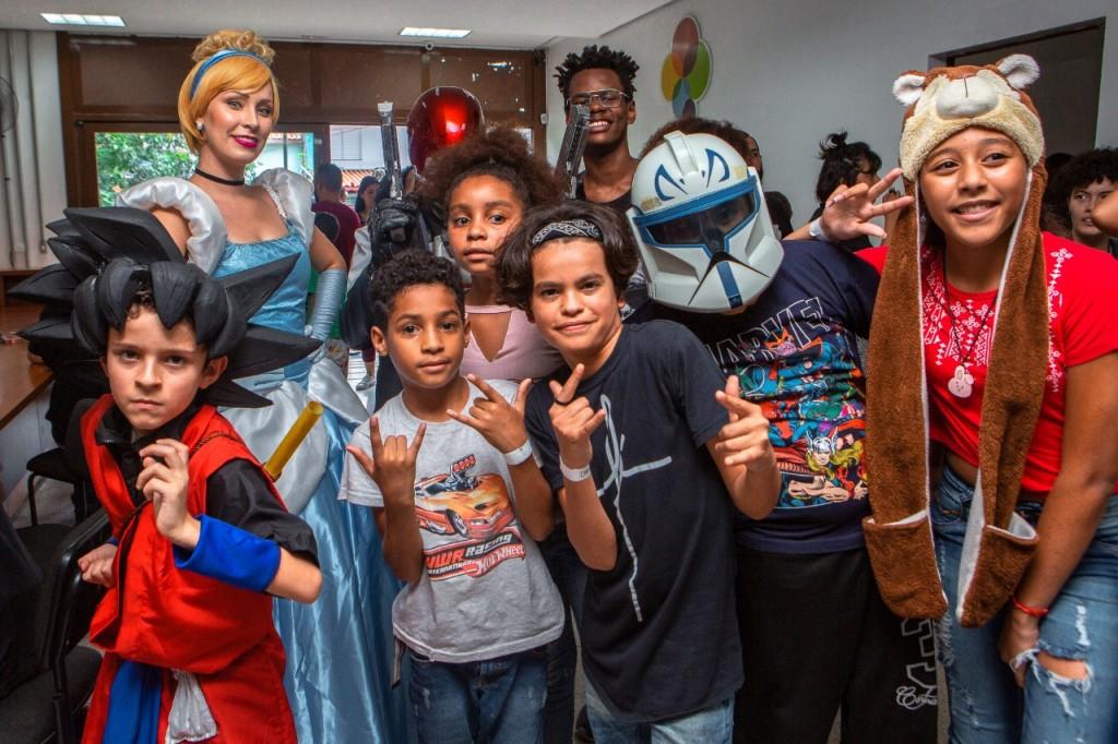cosplay dentro da feira