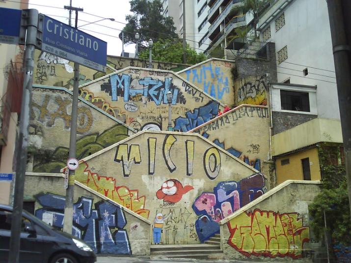 escadaria abandonadas