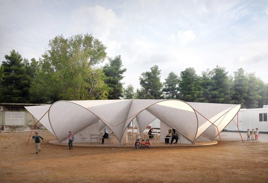 centro comunitário para refugiados na g´recia