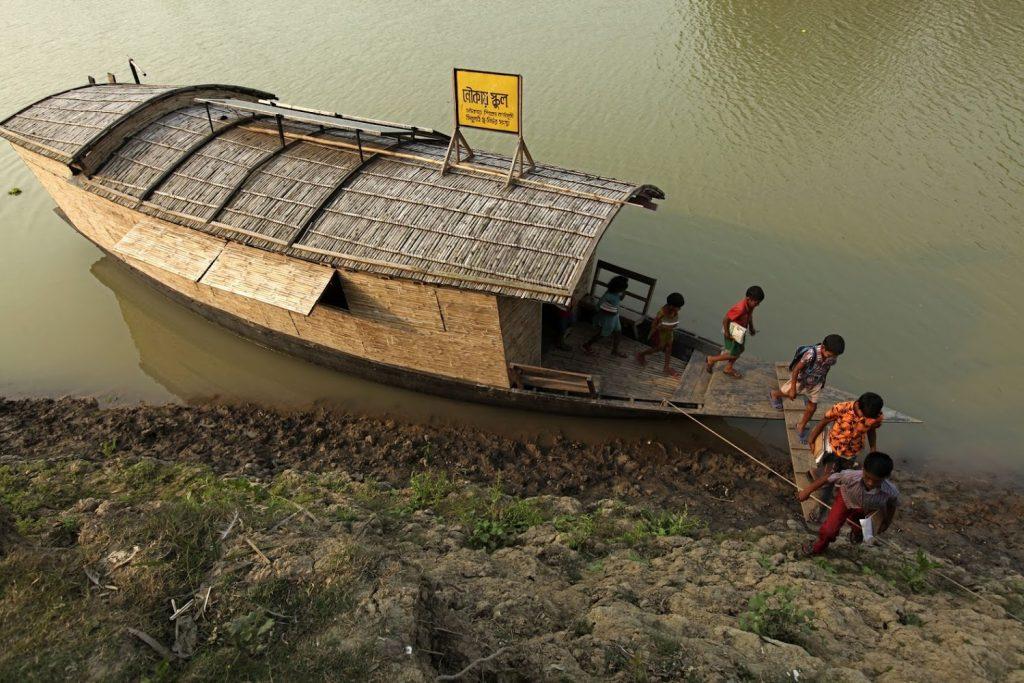 escola flutuante em bangladesh