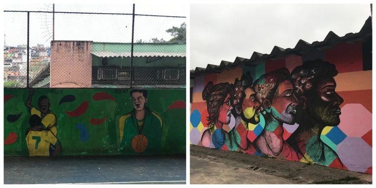 Na EMEF Castro Alves, estudantes pintaram murais ma escola
