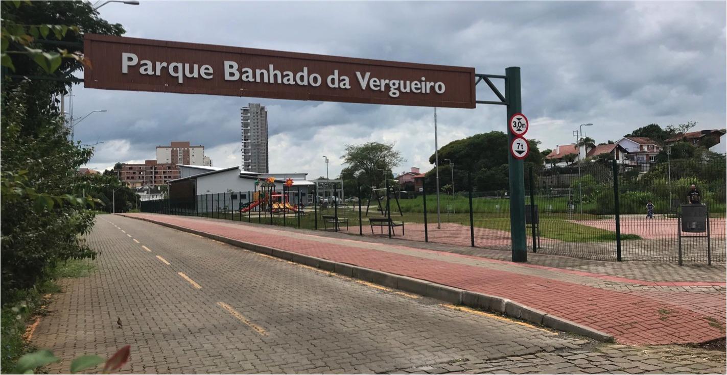 Vista do Parque Ambiental Banhado da Vergueiro. Projeto realizado pela equipe da prefeitura e recursos do fundo municipal de saneamento básico da Corsan.