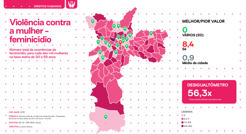 mapa mostra violência contra mulher