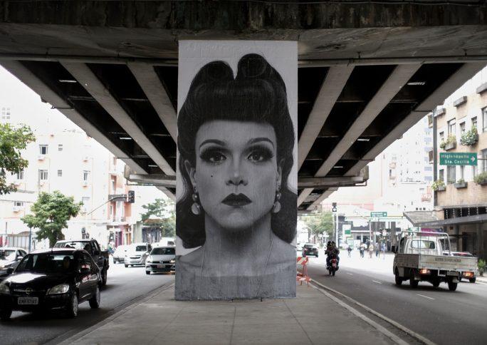 Projeto Giganto: artista agiganta em fotografias rostos diversos de São Paulo