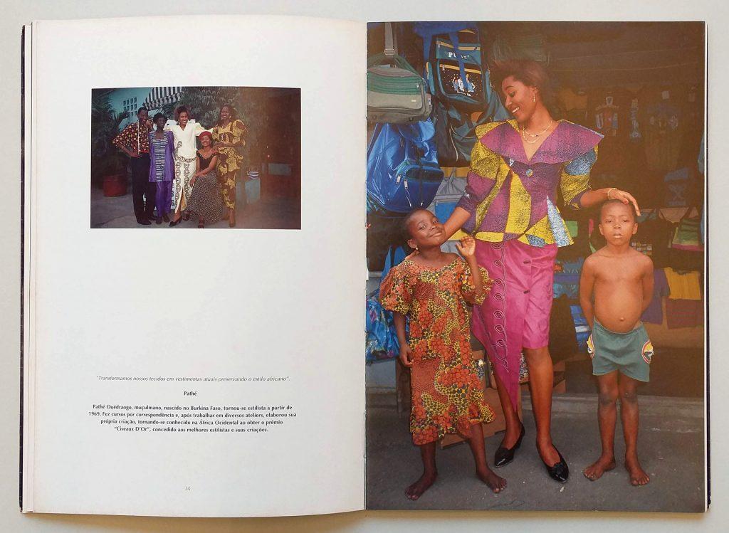 Páginas do livro África: moda, cultura e tradição, de Maureen Bisilliat / Crédito: IMS Paulista